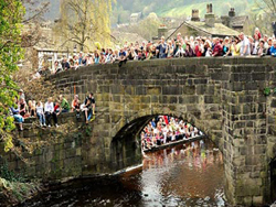 The packhorse bridge in Hebden Bridge